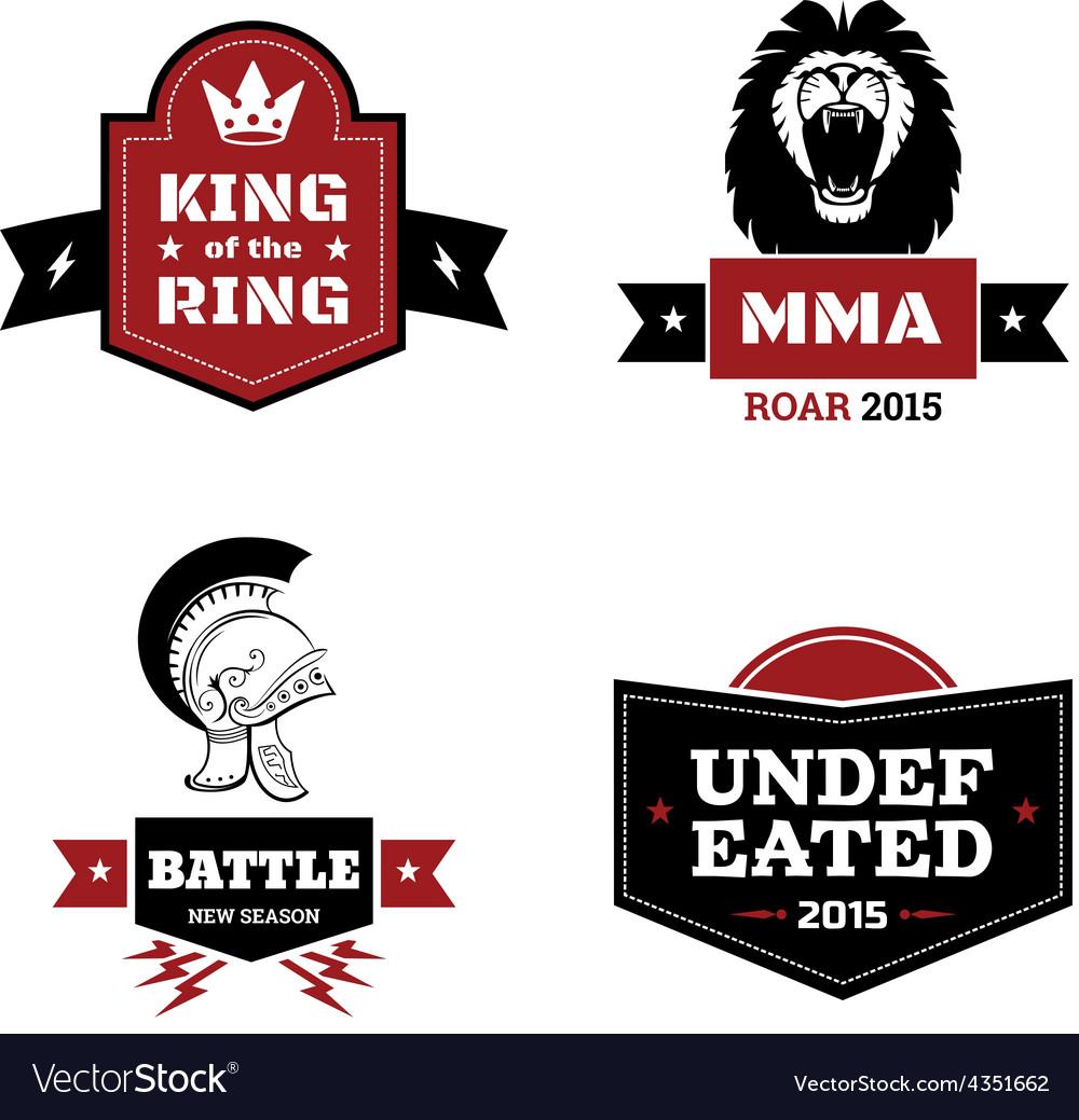 Martial arts logo set vector | Price: 1 Credit (USD $1)