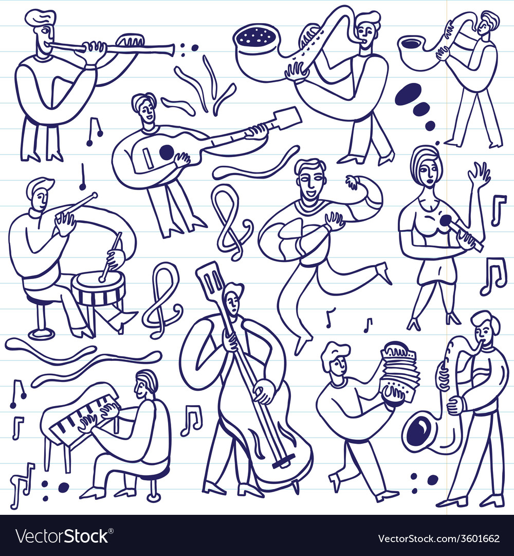 Musicians - cartoons set vector | Price: 1 Credit (USD $1)