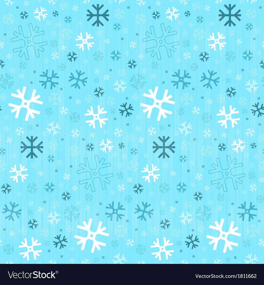 Retro seamless blue winter background with vector | Price: 1 Credit (USD $1)