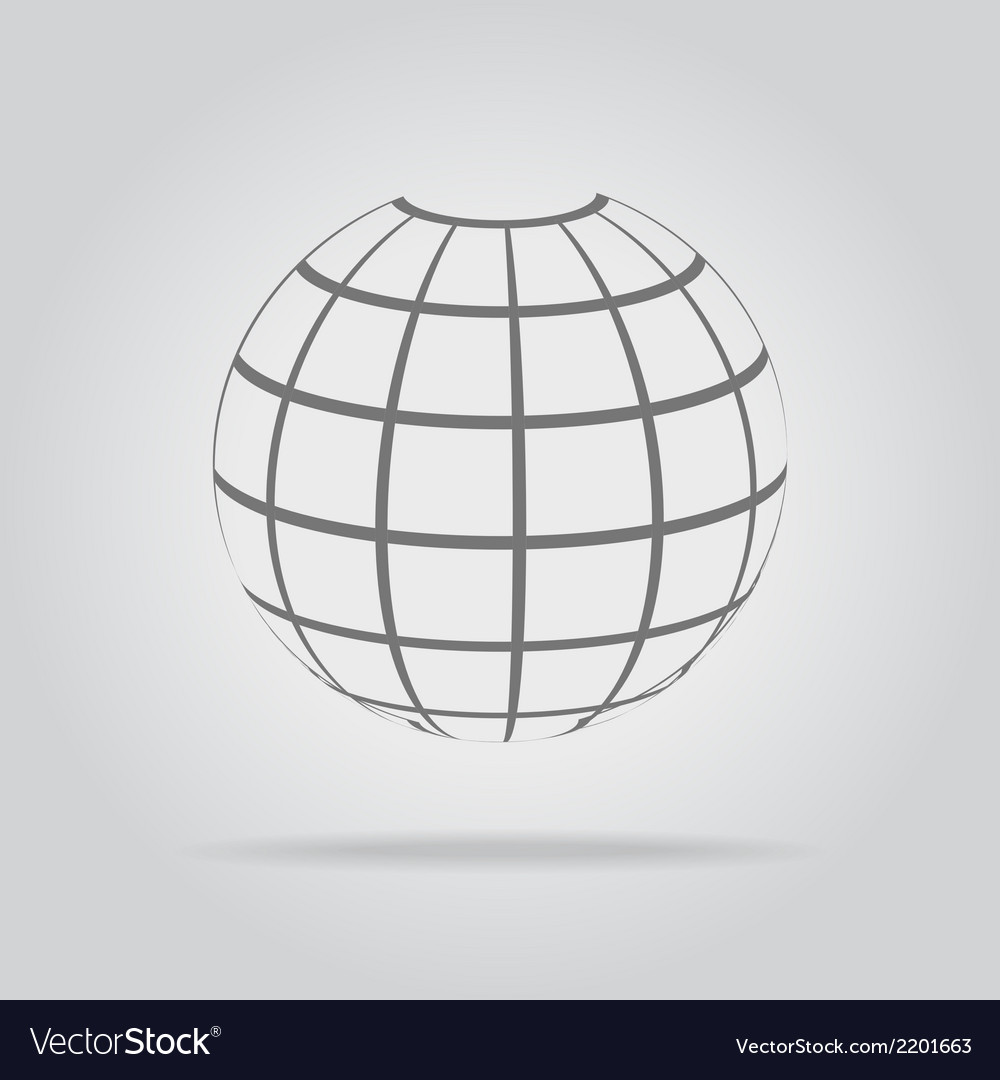 Abstract sphere in a strip vector | Price: 1 Credit (USD $1)