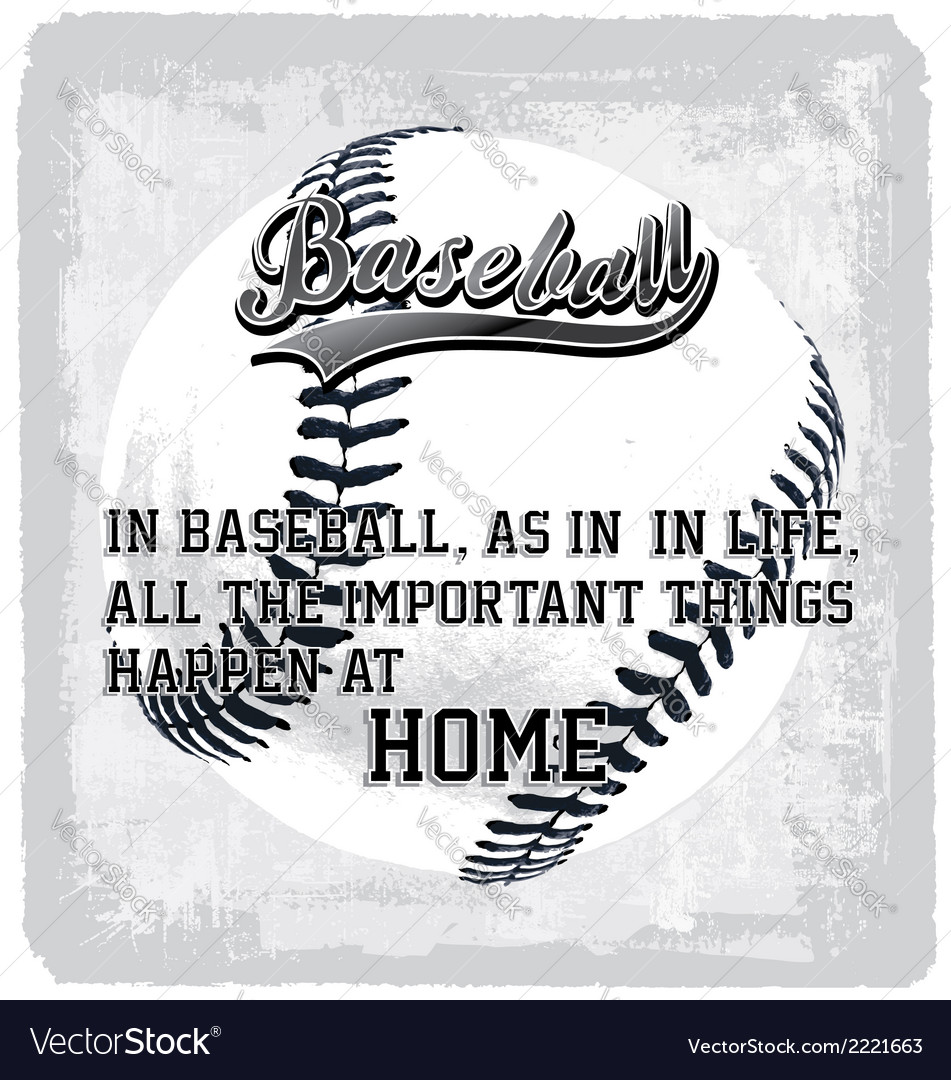 Baseball home vector | Price: 1 Credit (USD $1)