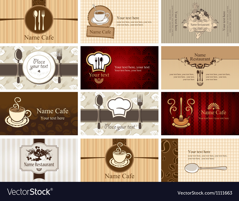 Business cards of food and drink vector | Price: 3 Credit (USD $3)