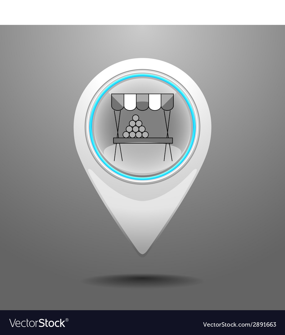 Glossy market icon vector | Price: 1 Credit (USD $1)