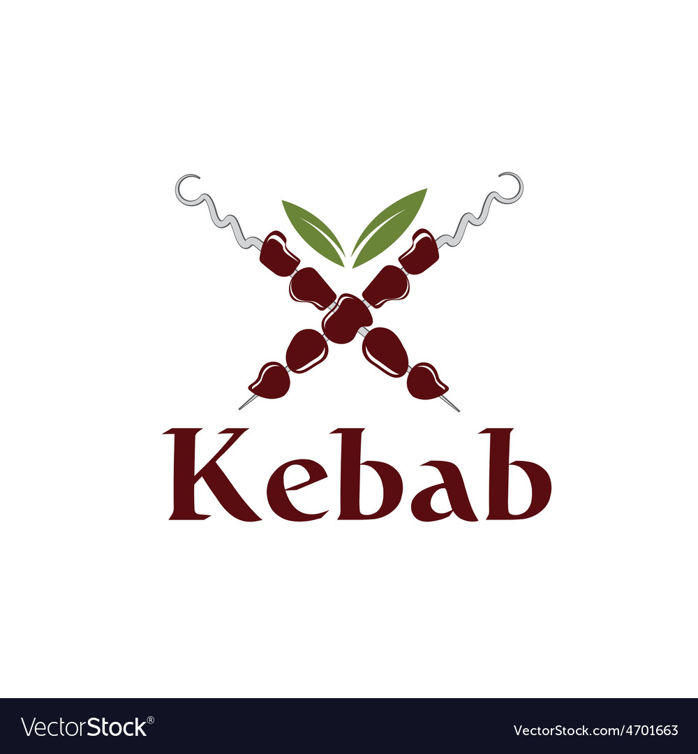 Kebab with leaves vector | Price: 1 Credit (USD $1)