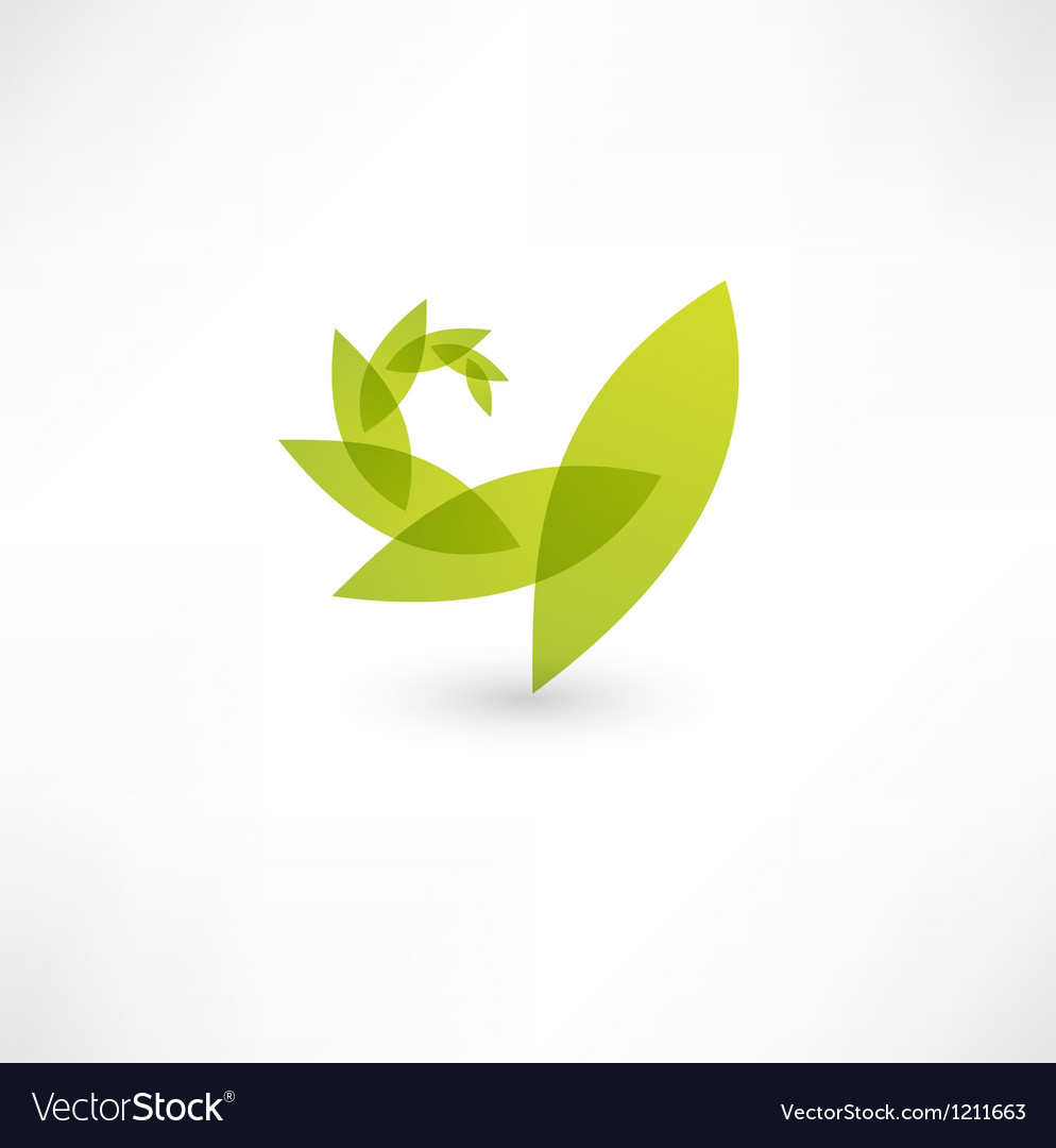 Leaf nature icon vector | Price: 1 Credit (USD $1)