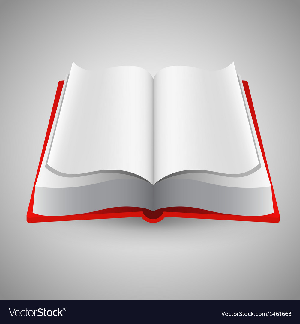 Open book on gray background vector | Price: 1 Credit (USD $1)