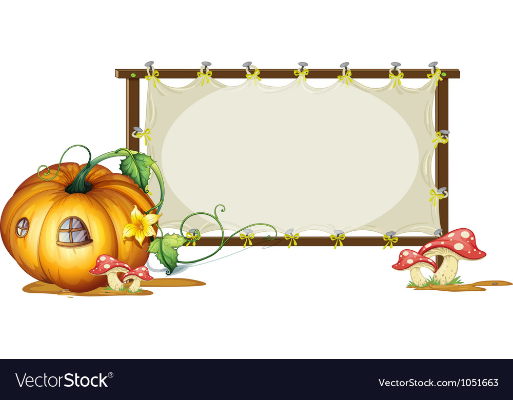 Pumpkin banner copyspace vector | Price: 1 Credit (USD $1)