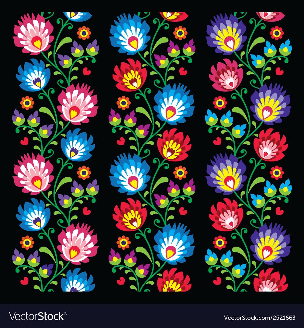 Seamless long polish folk art pattern vector | Price: 1 Credit (USD $1)