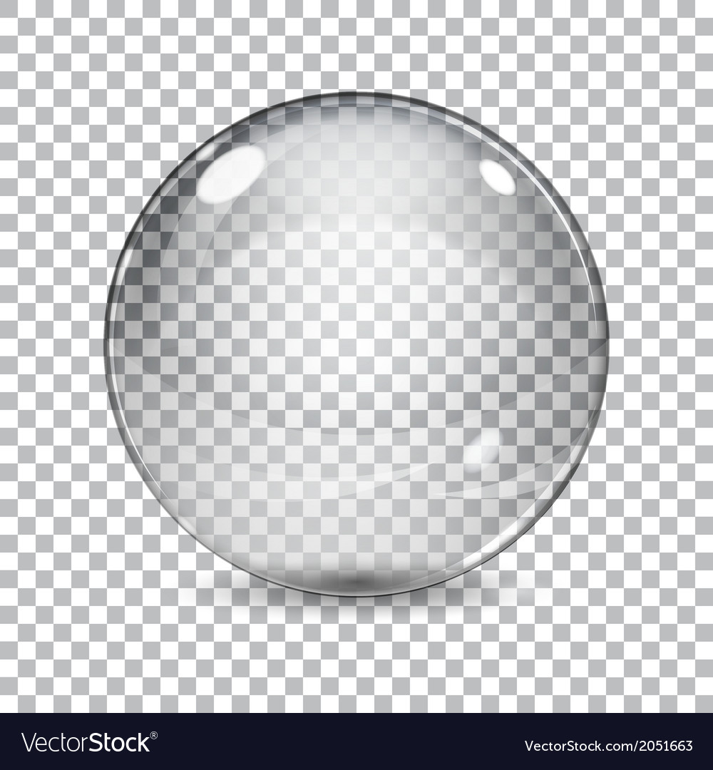 Transparent glass sphere vector | Price: 1 Credit (USD $1)