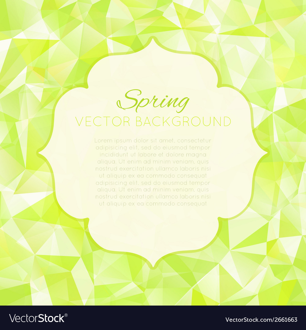 Triangle spring green abstract background vector | Price: 1 Credit (USD $1)