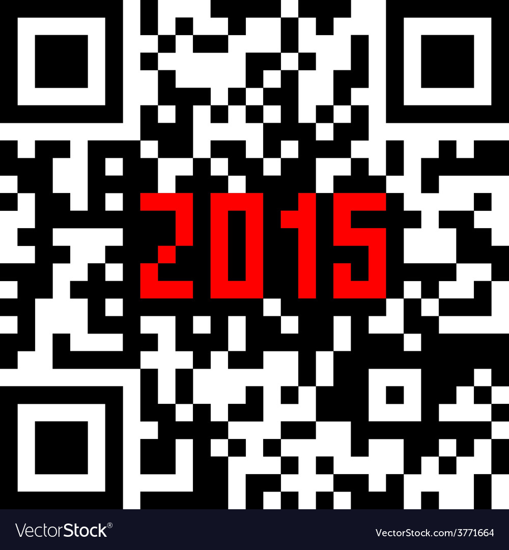 2015 new year counter qr code vector | Price: 1 Credit (USD $1)