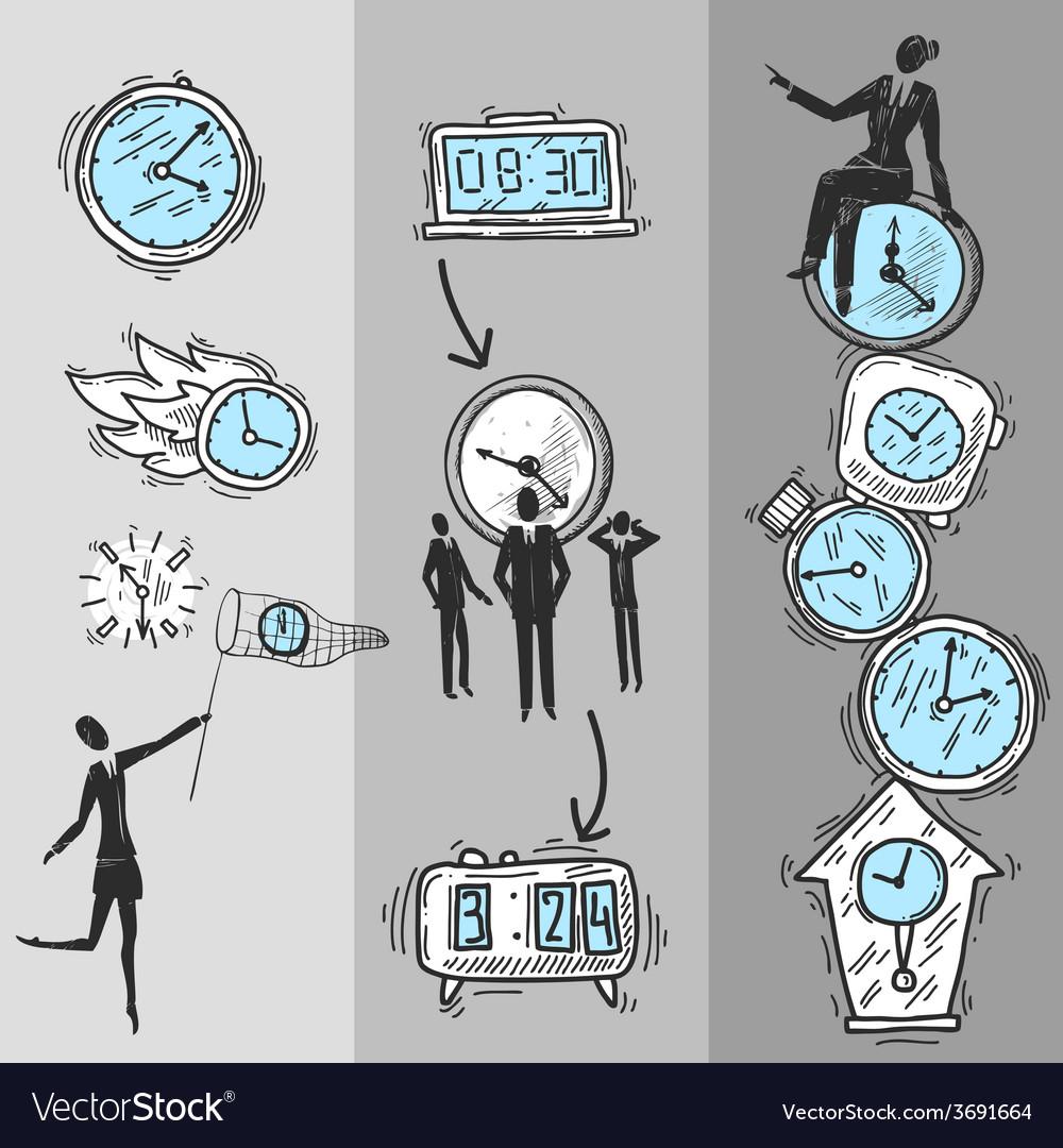 Clock banners set vector   Price: 1 Credit (USD $1)