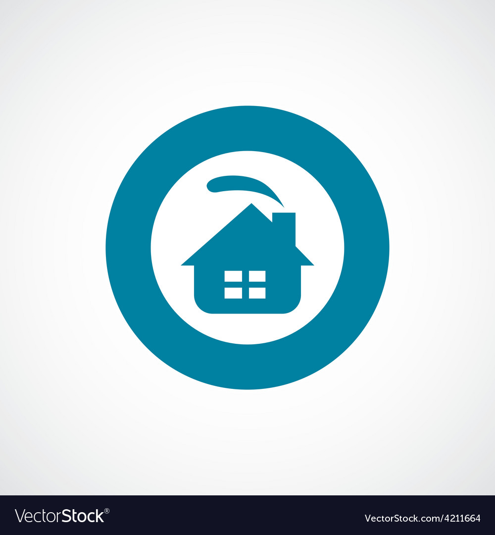 Cozy home icon bold blue circle border vector | Price: 1 Credit (USD $1)