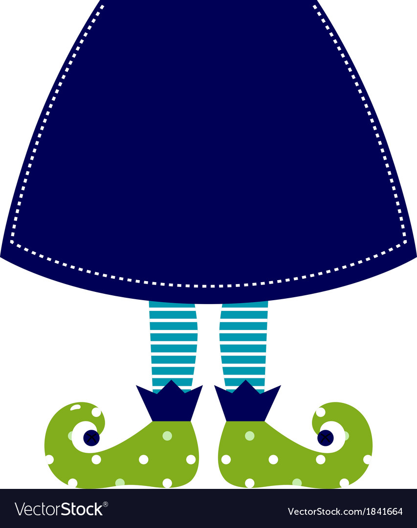 Cute christmas elf legs with skirt vector | Price: 1 Credit (USD $1)