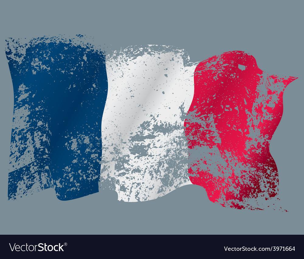 France grunge flag vector   Price: 1 Credit (USD $1)