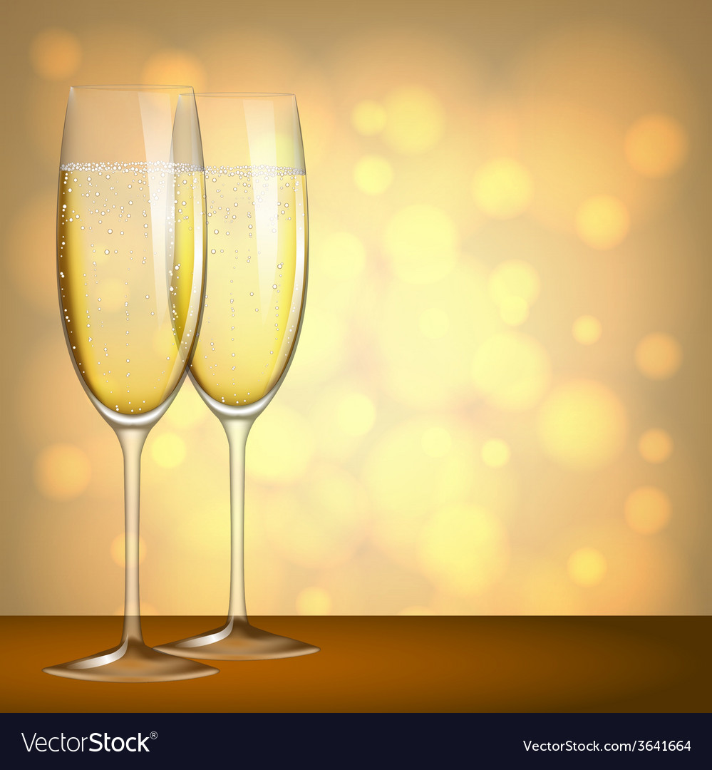 Glasses of champagne vector | Price: 3 Credit (USD $3)