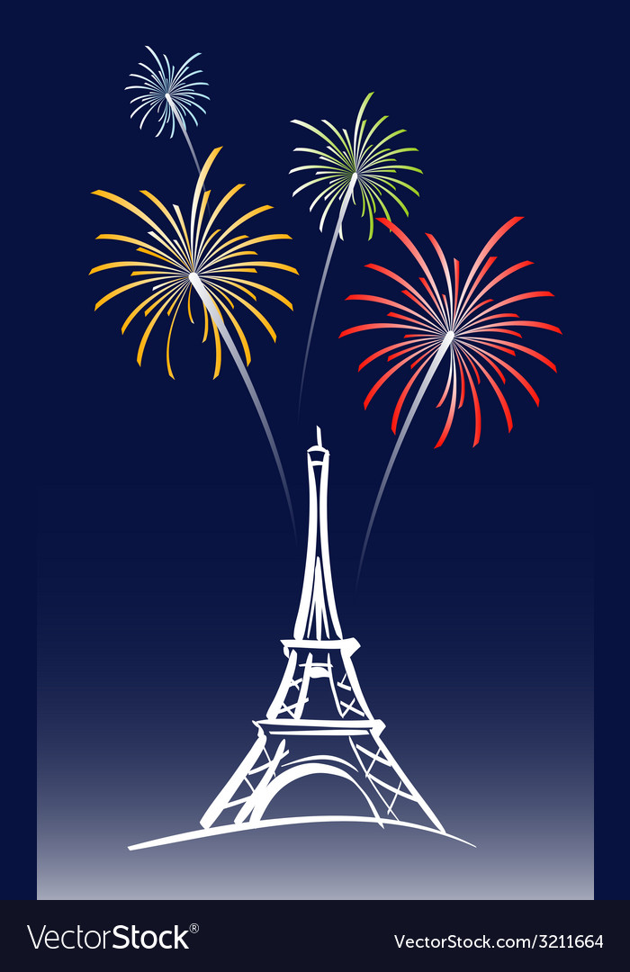 New year in paris vector | Price: 1 Credit (USD $1)