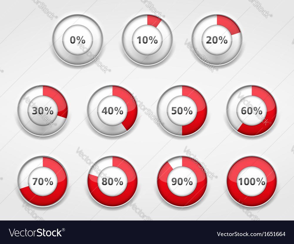 Progress indicators vector   Price: 1 Credit (USD $1)