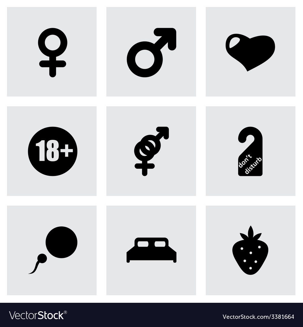 Sex icon set vector | Price: 1 Credit (USD $1)
