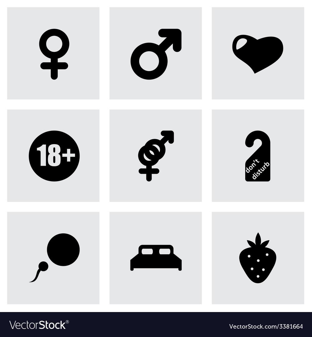 Sex icon set vector | Price: 1 Credit (USD $1)