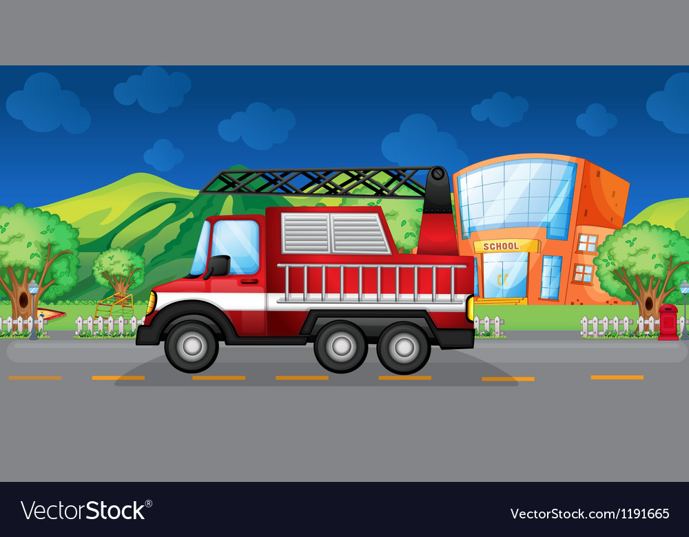 A red towing truck vector | Price: 1 Credit (USD $1)