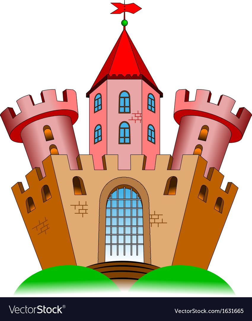 Ancient castle vector | Price: 1 Credit (USD $1)