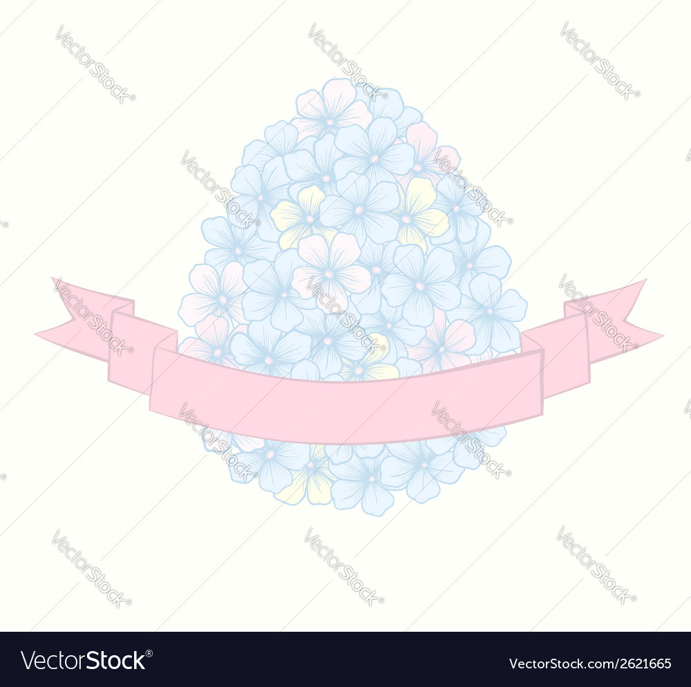 Beautiful easter greeting card with flowers vector | Price: 1 Credit (USD $1)