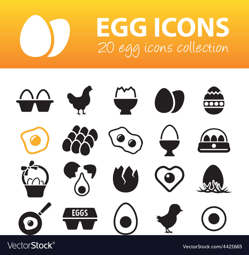 Egg icons vector | Price: 1 Credit (USD $1)