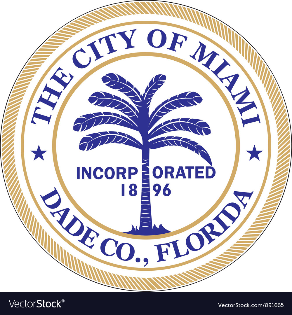 Miami city vector | Price: 1 Credit (USD $1)