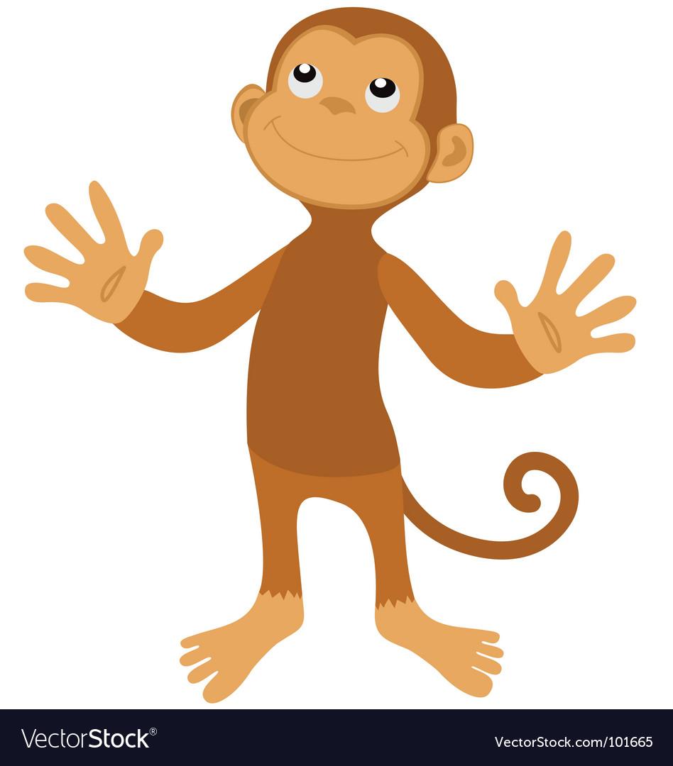 Surprised monkey vector | Price: 1 Credit (USD $1)
