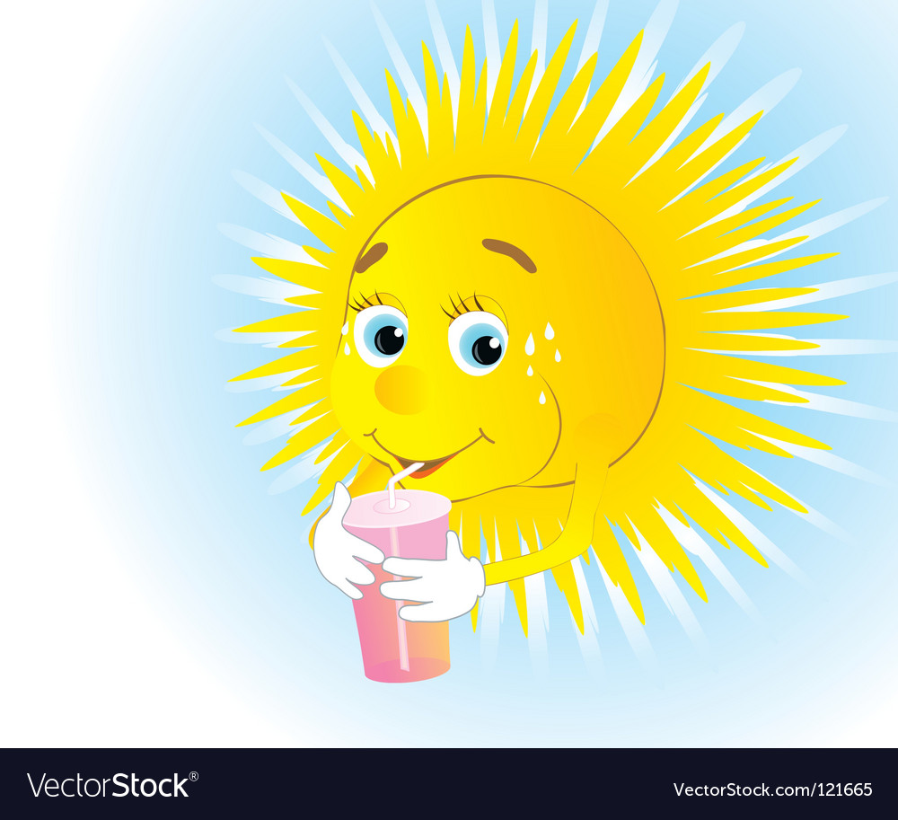 Thirsty sun vector | Price: 1 Credit (USD $1)