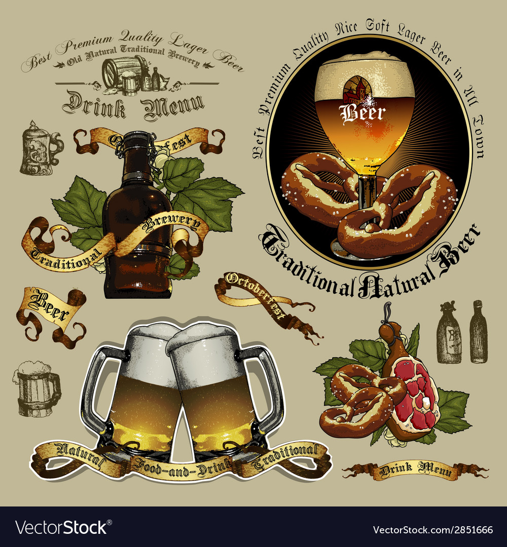 Beer designs vector | Price: 1 Credit (USD $1)