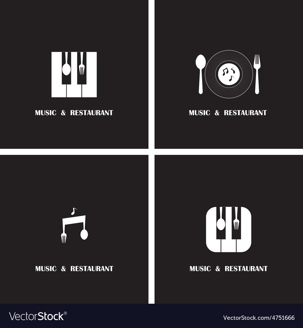 Creative music and restaurant icon abstract vector | Price: 1 Credit (USD $1)
