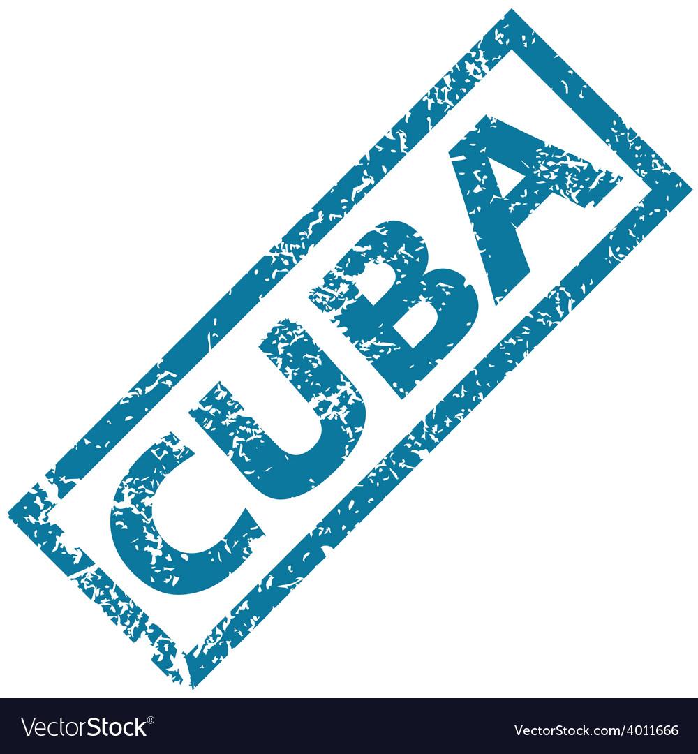 Cuba rubber stamp vector | Price: 1 Credit (USD $1)