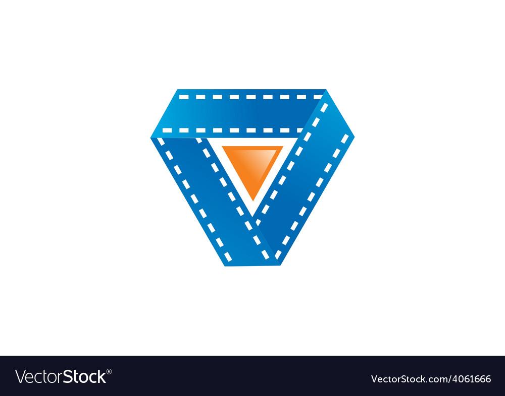 Film movie play symbol logo vector | Price: 1 Credit (USD $1)