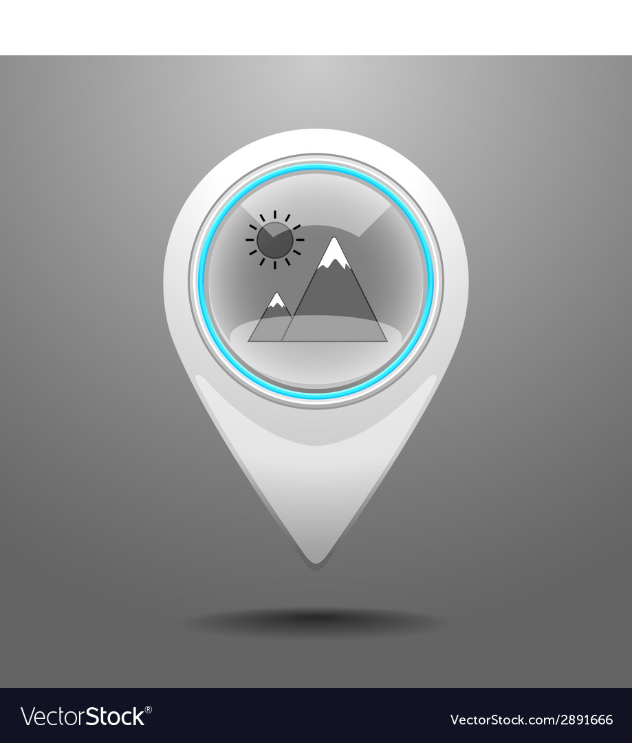Glossy hiking icon vector | Price: 1 Credit (USD $1)