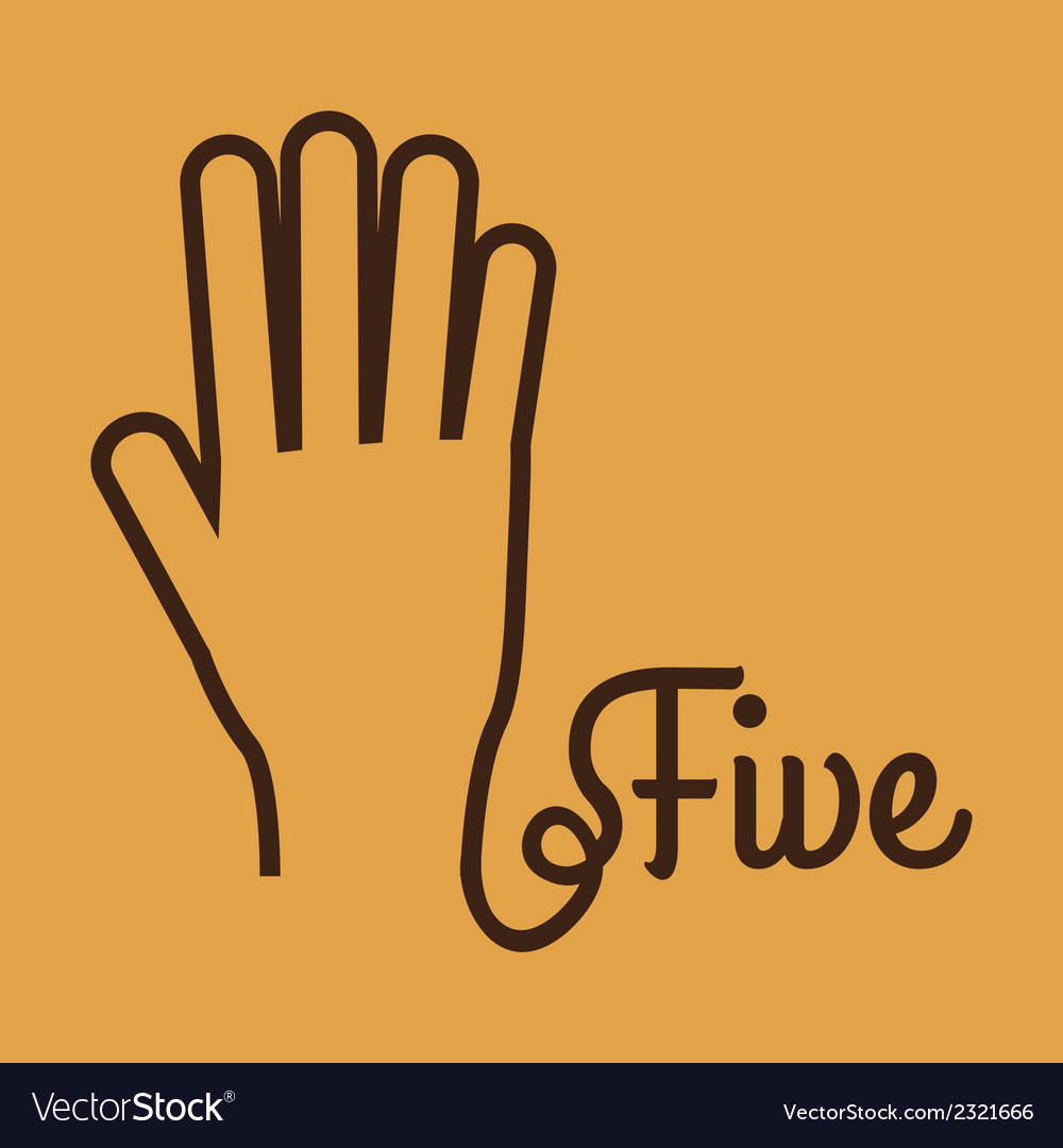High five vector | Price: 1 Credit (USD $1)