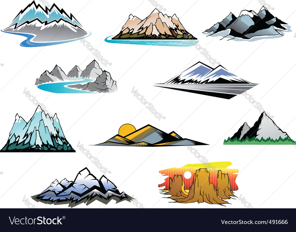 Mountain peaks vector | Price: 1 Credit (USD $1)