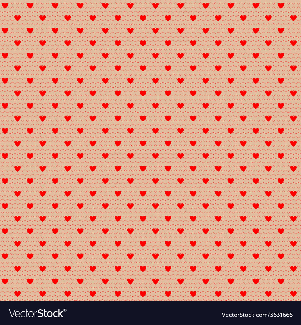 Net pattern with hearts vector | Price: 1 Credit (USD $1)