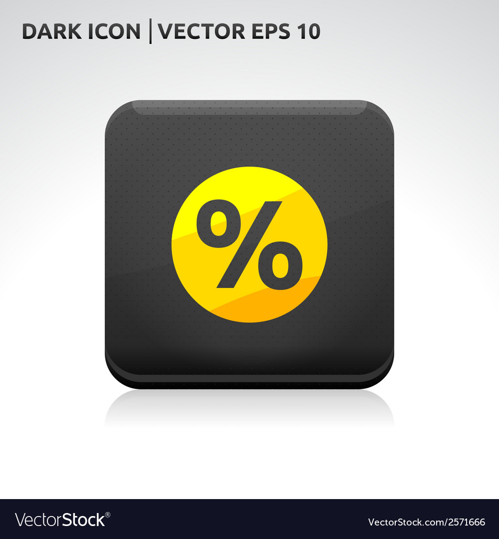 Sale percent icon gold vector | Price: 1 Credit (USD $1)