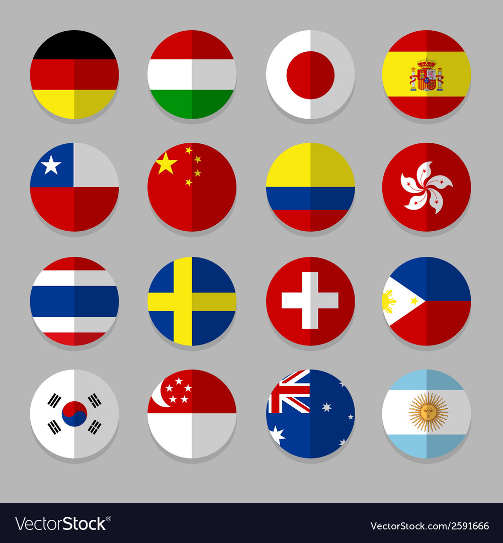 Set of flags icon vector   Price: 1 Credit (USD $1)