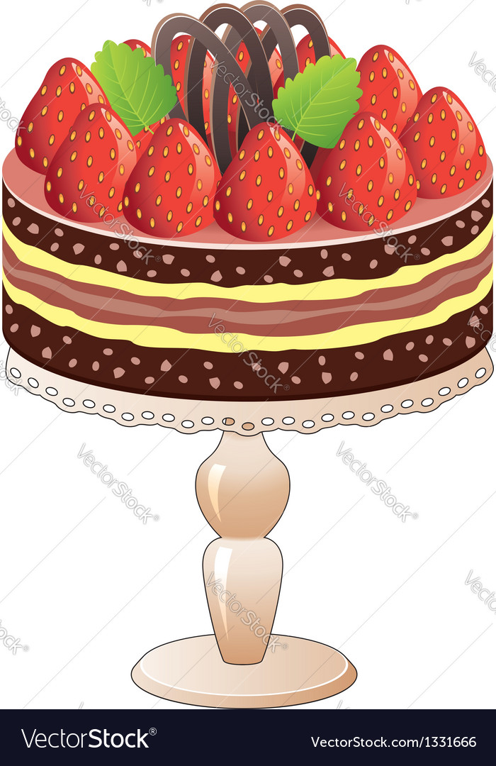 Strawberry cake vector | Price: 1 Credit (USD $1)