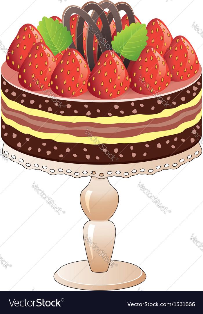 Strawberry cake vector | Price: 1 Credit (USD $1)