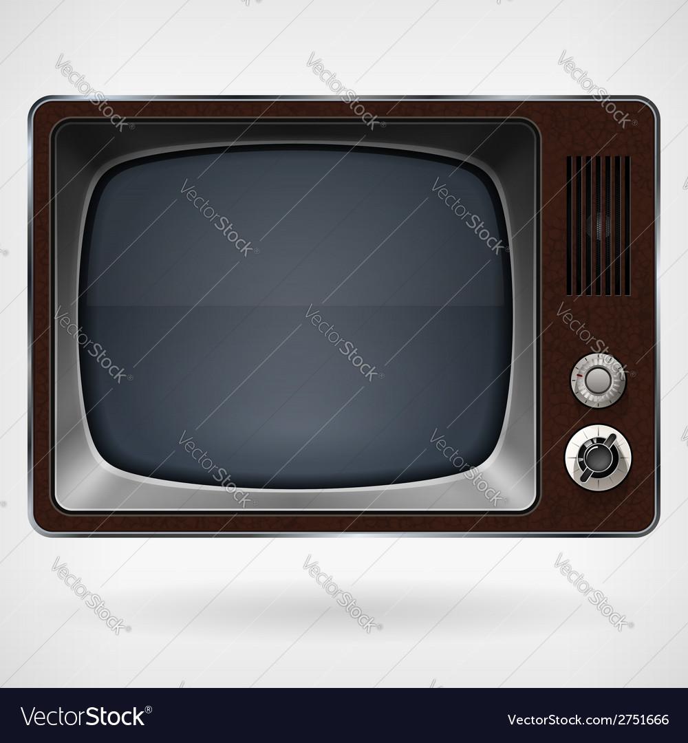 Vintage tv vector | Price: 1 Credit (USD $1)