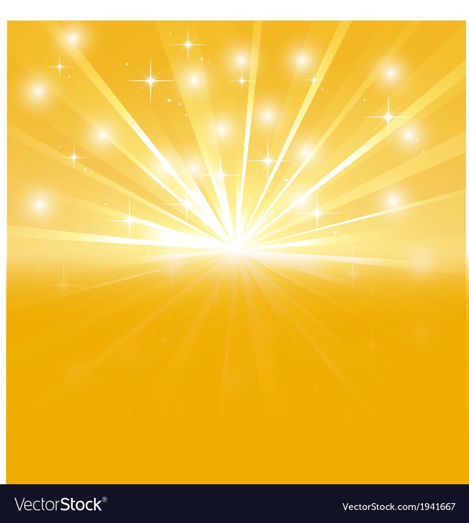 Bright sunburst with sparkles vector