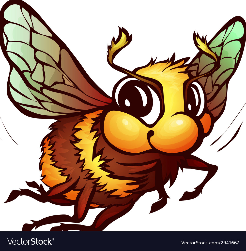 Bumblebee in cartoon style vector | Price: 1 Credit (USD $1)