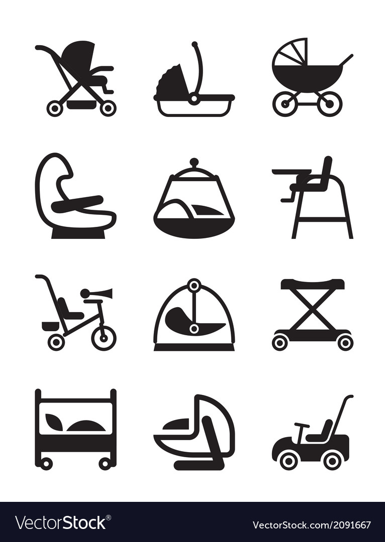 Children and baby accessories vector | Price: 1 Credit (USD $1)