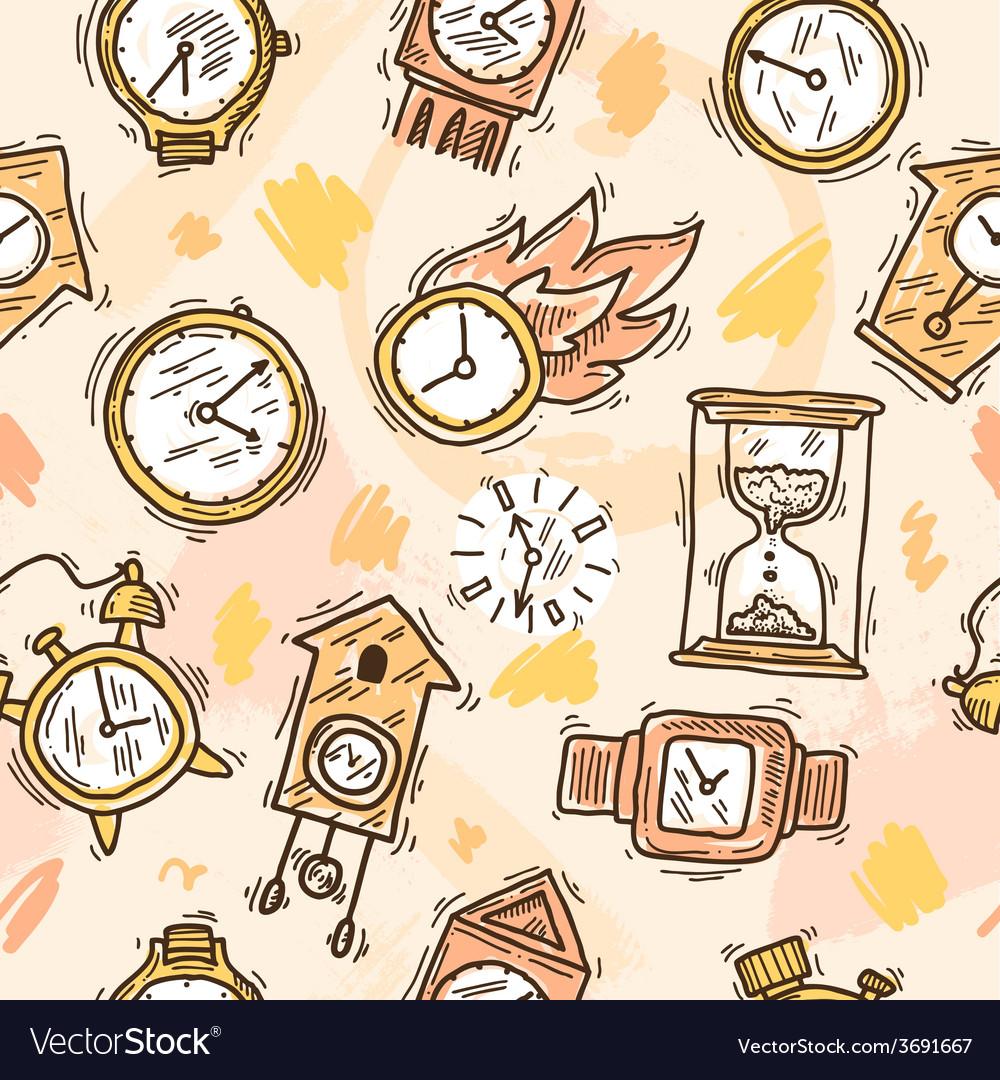 Clock seamless pattern vector | Price: 1 Credit (USD $1)