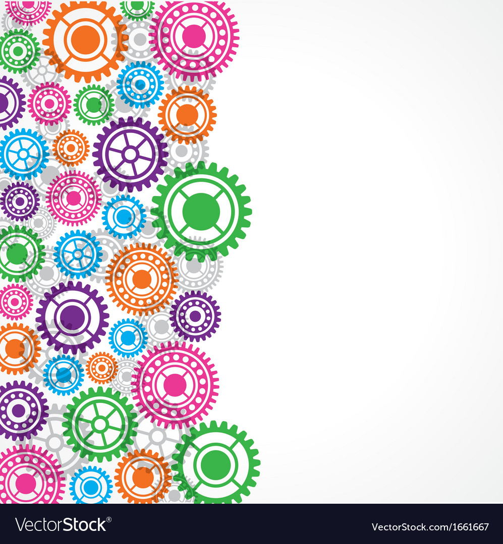 Colorful gear background vector | Price: 1 Credit (USD $1)