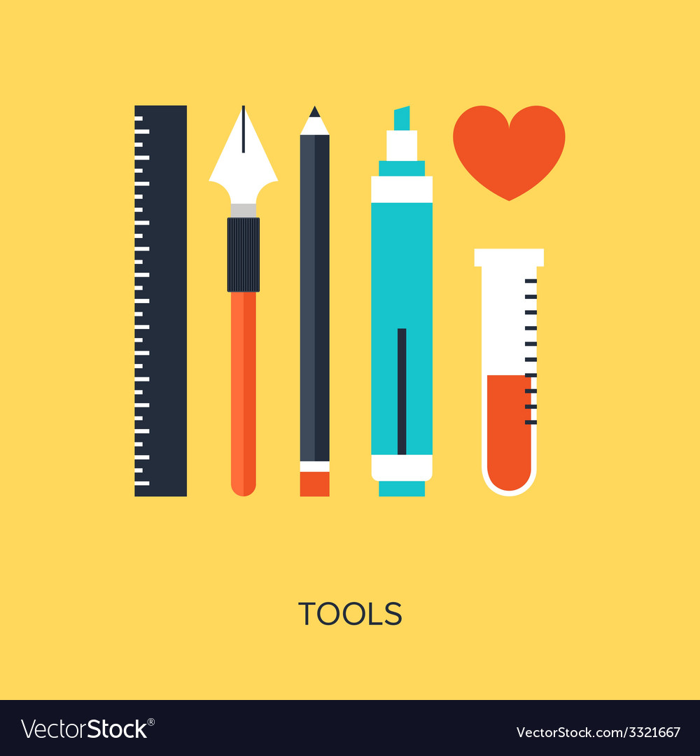 Design tools vector | Price: 1 Credit (USD $1)